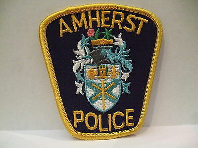 police patch  AMHERST POLICE NOVA SCOTIA  CANADA  DIFFERENT CREST