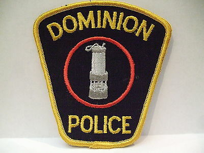 police patch  DOMINION POLICE NOVA SCOTIA  CANADA  4 1/4 INCH PATCH