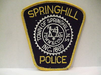 police patch  SPRINGHILL POLICE NOVA SCOTIA  CANADA  NEWER STYLE