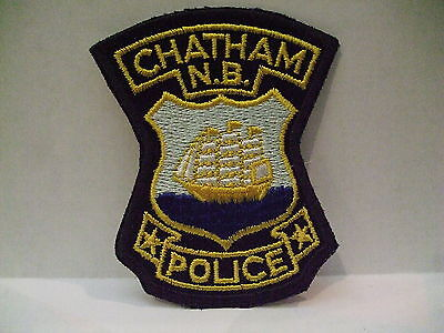 police patch  CHATHAM POLICE NEW BRUNSWICK CANADA  OLD STYLE