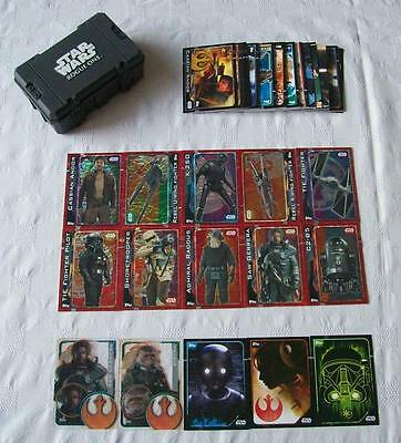 """""""Topps"""" Star Wars: Rouge One - Bundle of 65 Trading Cards + Collectors Case (B5)"""
