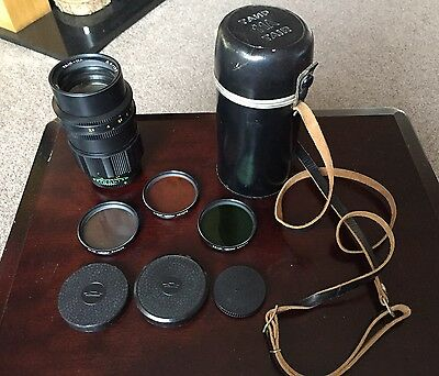 Vintage Zenit Tair 11a Camera Telephoto Lens 28,5/135 761017 With Filters Covers