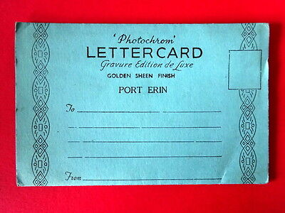 Isle of Man - Port Erin souvenir letter card 1940s/50s - unposted