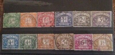 Gb Postage Due Stamps 1941,