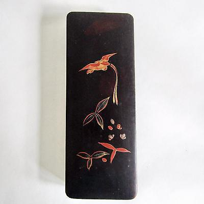 Antique Japanese Lacquered Brush Box/Glove Box
