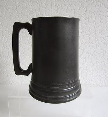 Antique Victorian Glass Bottomed Pewter Quart