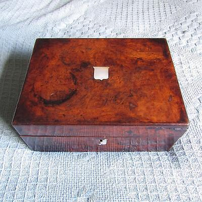 Antique Wooden Box With MOP Inlay