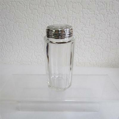 Antique c1903 Glass Cologne/Vanity Bottle With Silver Lid - Wolfsky & Co
