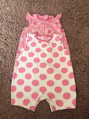 Matalan Baby Girl Summer Rompers Age 0-3 Months