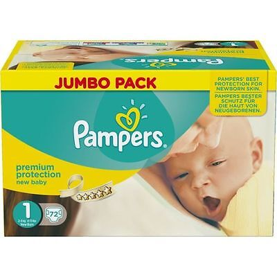 PAMPERS - New Baby Taille 1 2 a 5kg 72 couches - 81561732 NEUF