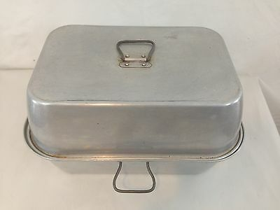Wear Ever #2625 Large Aluminum Roaster Vented Handle Oven Roasting Pan