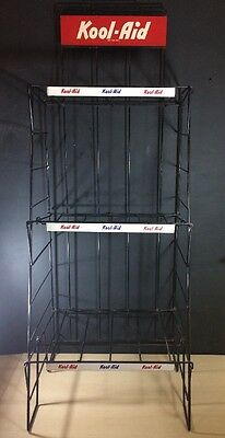 Kool Aid Vintage Rack Display For Packets Beverage Advertising 55 1/2 Inch Tall