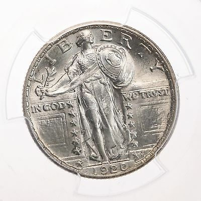 1920 Standing Liberty 25C PCGS Certified MS63 63 Graded US Silver Quarter Coin