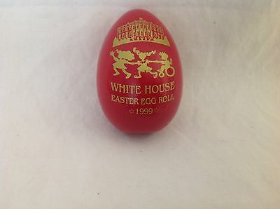 1999 Clinton White House Easter Egg Roll Rare RUBY RED Wooden Egg  New  Free S&H