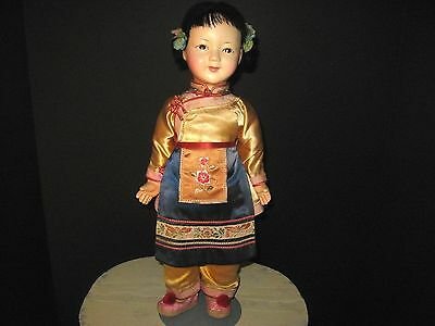 Antique Vintage Japanese Doll ICHIMATSU? NINGYO? Girl Gofun? Doll Japanese doll