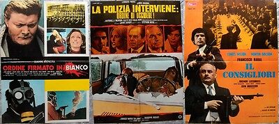 lotto 80 fotobuste poliziottesco spy thriller Milian Merli Mark Vallanzasca It