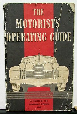 1940 Oldsmobile Owners Manual Operating Guide Original Care & Operation