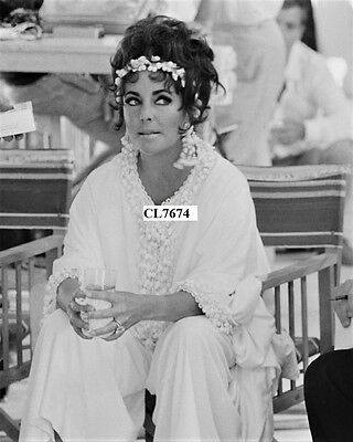 Elizabeth Taylor on the Set of the Movie 'Boom' in Sardinia Photo