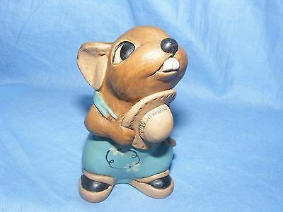 Pendelfin Stoneware Brown Father Mouse Made In Burnley England