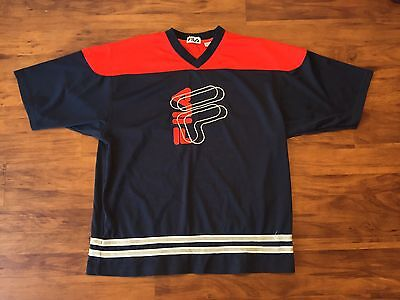 756859084 VINTAGE FILA 90S Style Hip Hop Big Logo Spellout Supreme Warmup ...