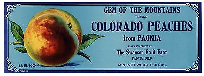 GEM OF THE MOUNTAIN Brand, Colorado   *AN ORIGINAL PRODUCE CRATE LABEL*  H21