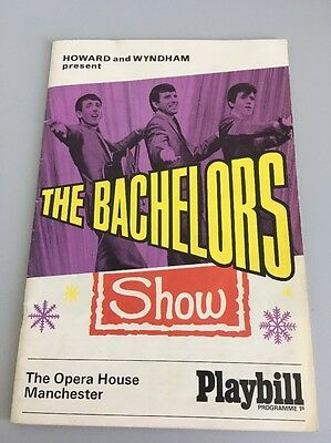 """THE OPERA HOUSE MANCHESTER """"The Bachelors Show """" PROGRAMME 1966"""