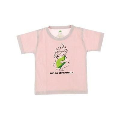 The Green Creation 1383 Pink Organic Graphic Casual Top Shirt 12-18 MO BHFO
