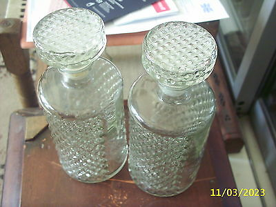 "Two ""cut Glass"" Decanters"