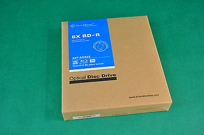 New Sealed Box - Silverstone 6X BD-R Blu-Ray Writer SOB02 w/ Slim SATA 12.7MM