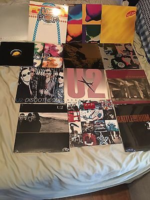 14 Pieces - U2 Vinyl - NEVER PLAYED - Plus U2  Disco Ball -  Limited -AMAZING!!
