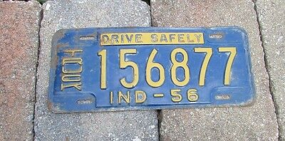 1956 Indiana Truck License Plate - Drive Safely - 156877