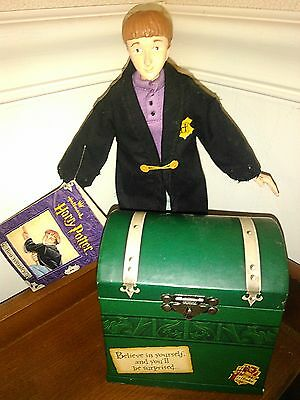 Harry Potter RON WEASLEY Collectible Decorative Figure w/ Trunk & Scabbers Rare