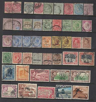 JAMAICA Small lots of new and used stamps