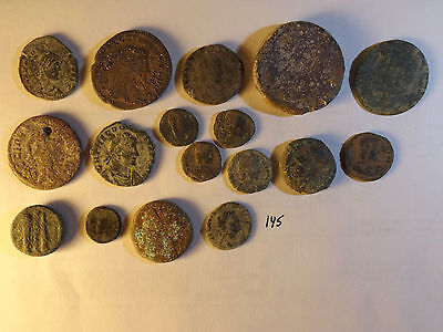 Lot of 17 Quality Uncleaned Ancient Roman and Greek Coins