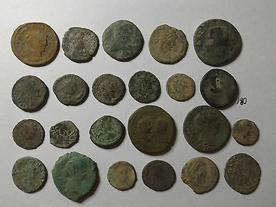 Lot of 23 Quality Uncleaned Ancient Roman Coins