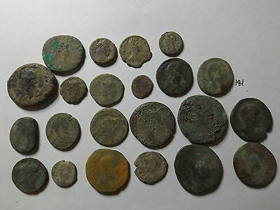 Lot of 22 Quality Uncleaned Ancient Roman Coins