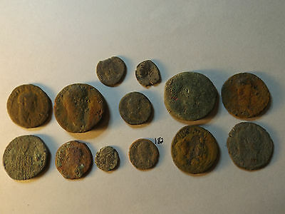 Lot of 13 Quality Uncleaned Ancient Roman Coins