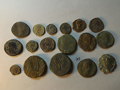 Lot of 17 Quality Uncleaned Ancient Roman Coins