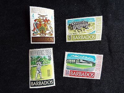 Barbados: 1966 Independence Set of 4 Stamps Mounted Mint (MH)