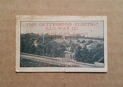 Gettysburg Electric Railway Co.,Passage To National Cemetery Ticket,1894-1916