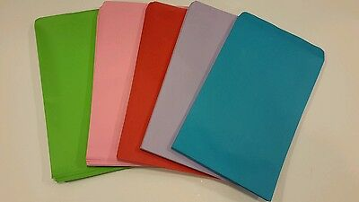 """100 4 3/4"""" x 7"""" Assorted colors paper gift / merchandise / bags"""