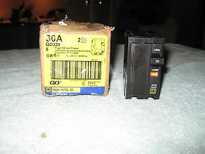 Brand NEW QO Square D 30A QO230 120/240V 2 Pole Plug-In Circuit Breaker