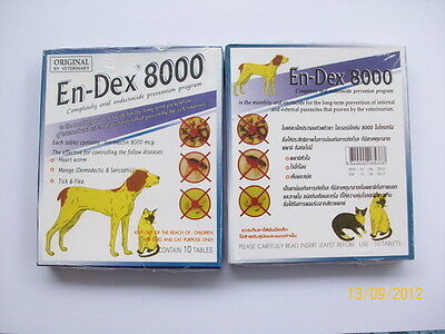 Pet tablet pill EN-DEX 8000 Remove Prevent Ticks and Fleas for Cats and Dogs