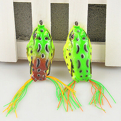 1pc Large Frog Fishing Lure Crankbait Hooks Bass Bait Tackle for all water