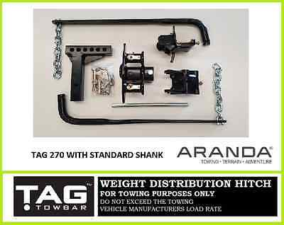 TAG 360 (800lb) Weight Distribution Hitch Kit / Anti Sway Bars / Level Riders