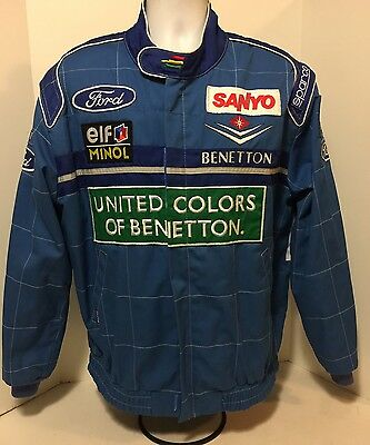 Benetton F1 1990's  Sparco promotional jacket with full sponsors XL Schumacher