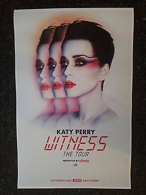 Katy Perry Witness world tour 11x17 tour  concert poster tickets