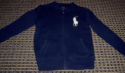 Polo By Ralph Lauren  Boys Zip Front Cardigan Sz  5