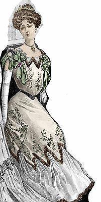 1902 Edwardian Silk Ballgown pattern - Sized for you