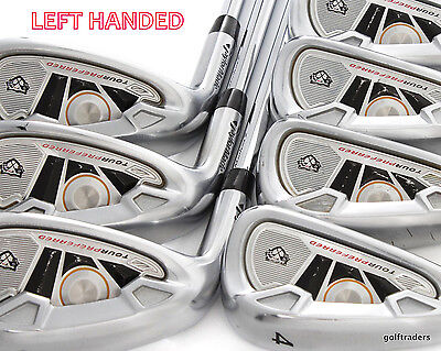 "Taylormade Tour Preferred Tp Irons 4-Pw Steel Stiff Flex (+0.5"") - Lh #d5883"